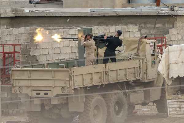 Iraakse militairen tegen IS