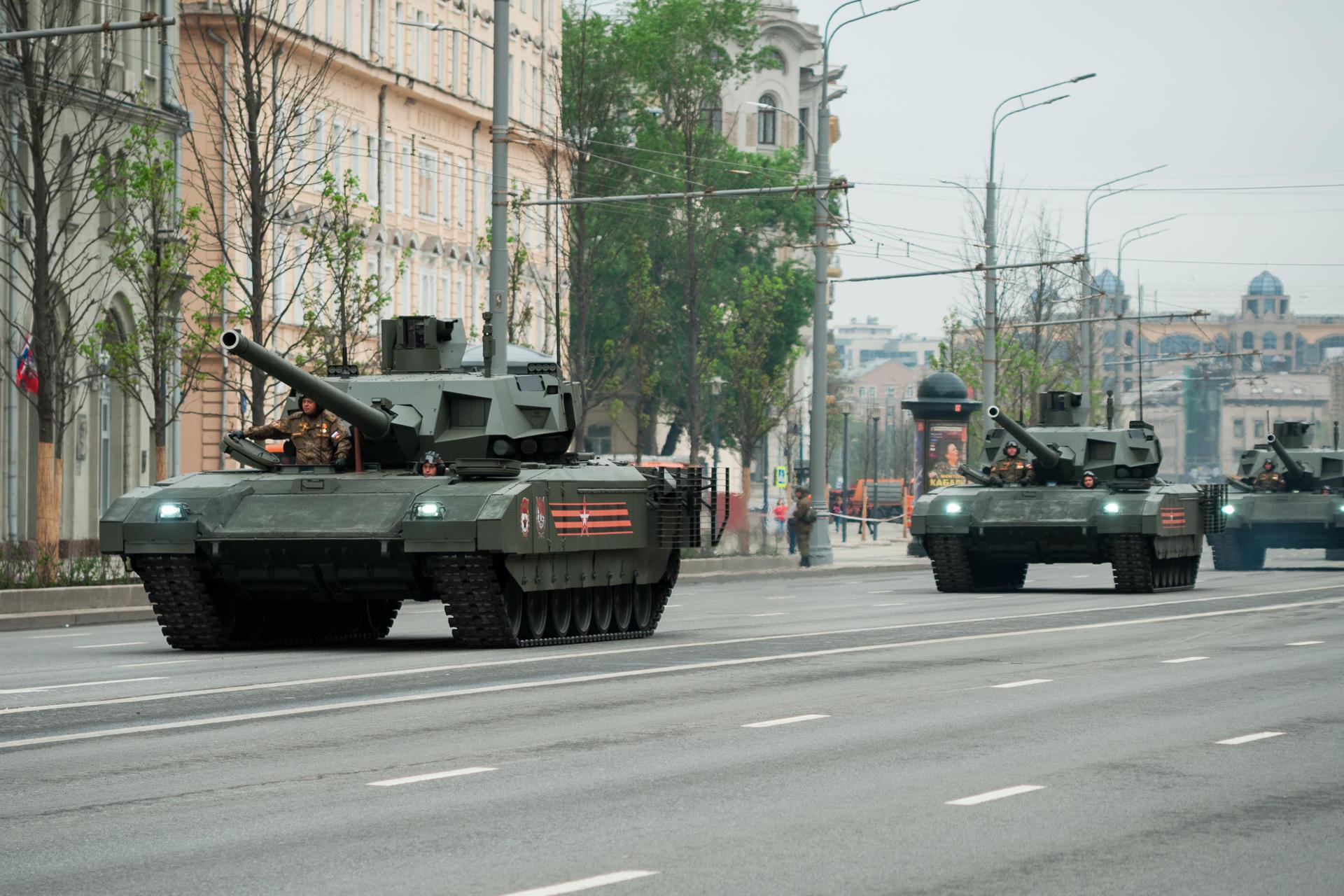 Russische T-14 Armata tanks